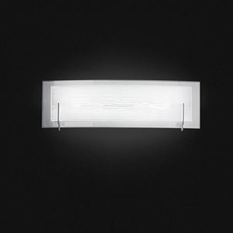 Applique In Vetro Bianco Satinato 60cm 6488bln Illuminazione Moderna Ideale Per Salone Camera Da Letto Sala Da Pranzo