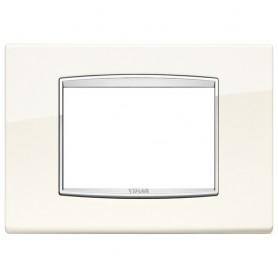 Placca Classic 3M bianco artico Vimar Eikon Chrome 20653.C01