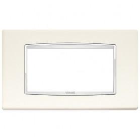 Placca Classic 4M bianco artico Vimar Eikon Chrome 20654.C01