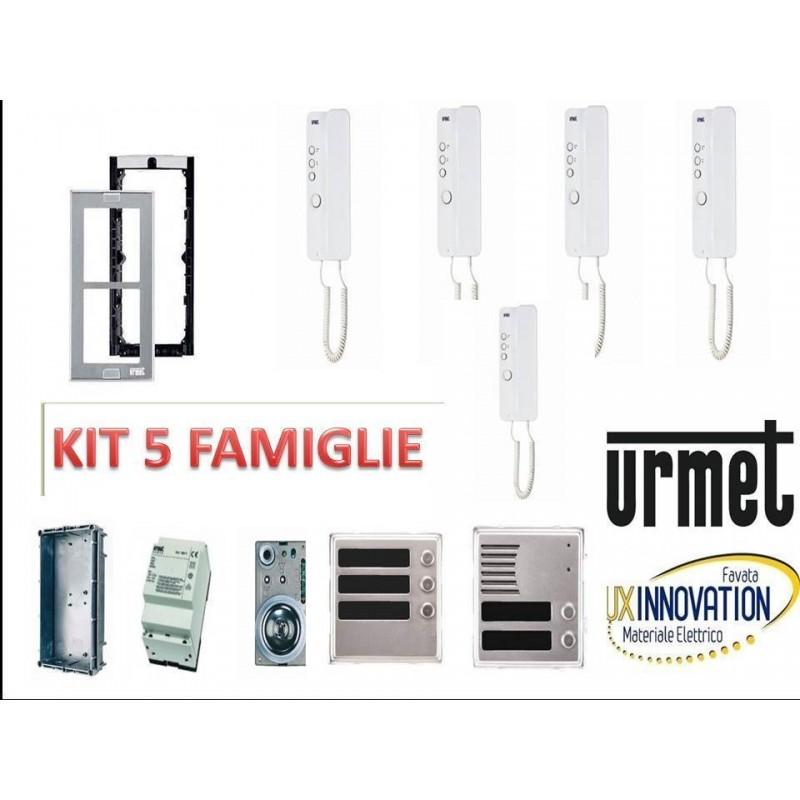 Citofono Urmet 5 Fili.Kit Citofonico Urmet 5 Famiglie Luxinnovation Vendita Materiale