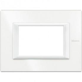 Placca Classic 3M bianco Bticino Axolute HA4803HD