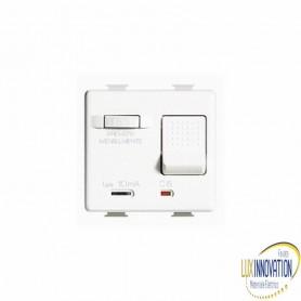 Interruttore automatico magnetotermico differenziale bipolare 1P+N 10A bticino matix AM5250S