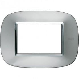 Placca Round 3M alluminio Axolute Bticino Axolute HB4803XC