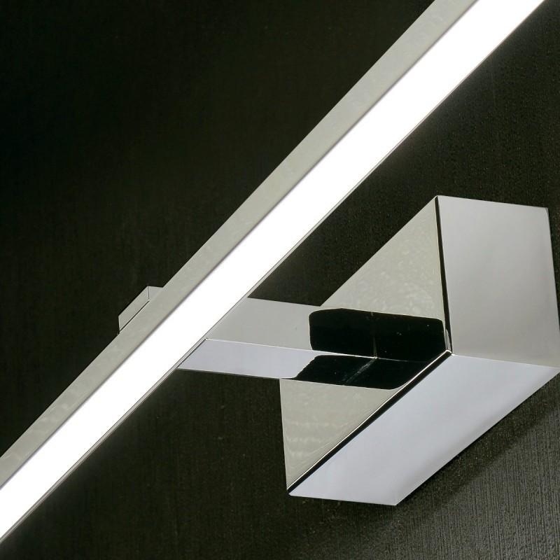 Applique da specchio bagno elegance a modulo led20w in metallo moderno l9034 20cr - Applique bagno specchio ...