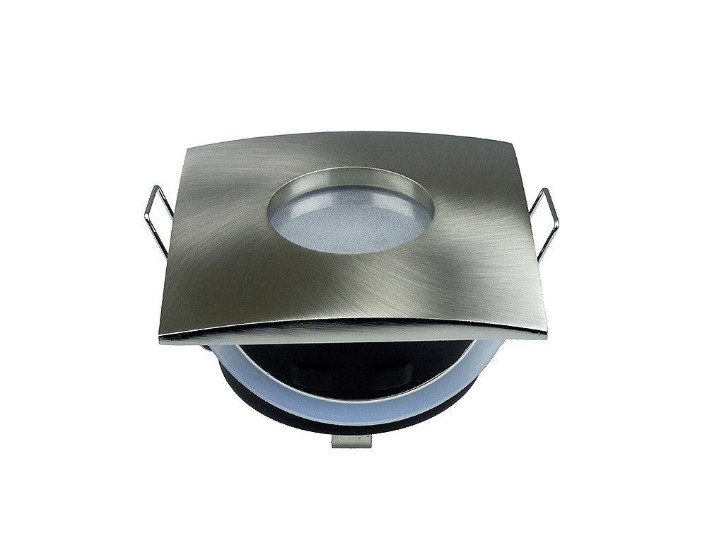 Faretto quadrato da incasso cartongesso acciaio spazzolato ip
