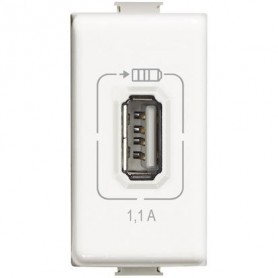 Caricatore USB charger 1,1A carica cellulari bticino matix AM5285C1