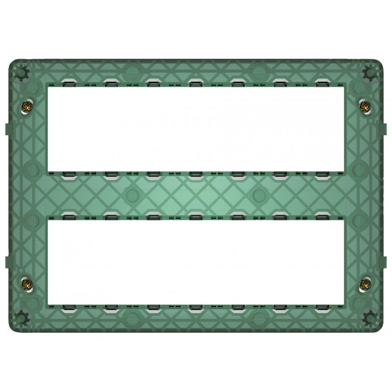 Supporto 14 moduli (7+7), con viti