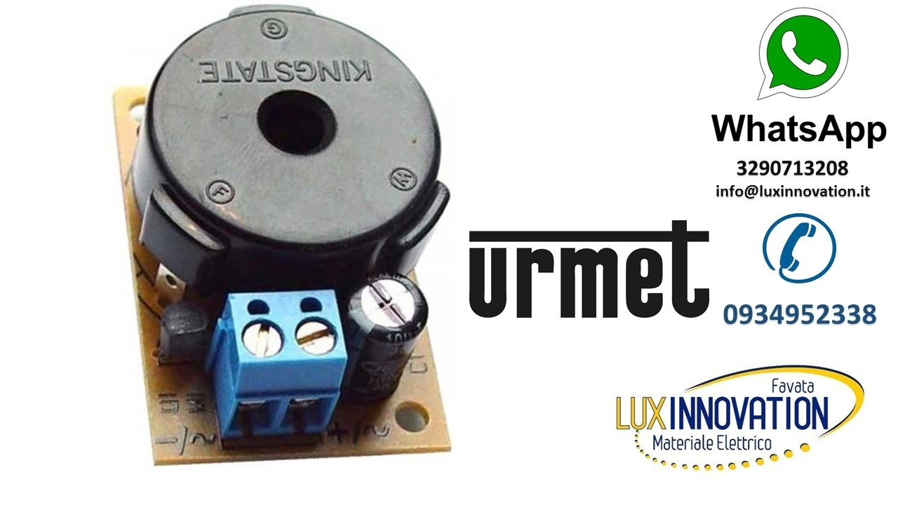 Schema Elettrico Urmet : Ronzatore buzzer supplementare urmet signo