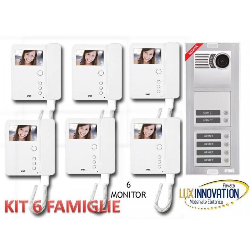 Kit Videocitofono 6 famiglie Urmet 6 interni