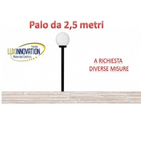 Lampione Sfera da giardino opaca da 25 com palo da 2.5 mt