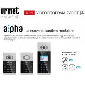 NEW Alpha è la nuova pulsantiera modulare Urmet