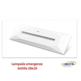 Lampada emergenza led DESIGN SOTTILE DA PARETE BIANCO SMYLED