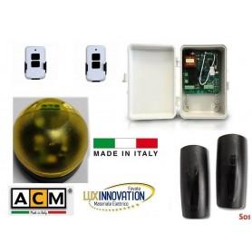 Kit Centralina ACM per automazione di serrande con fotocelllule e lampeggiante