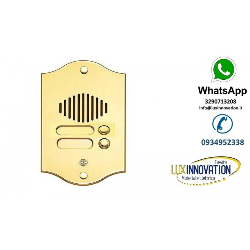 Pulsantiera 5 pulsanti in ottone LUCIDO oro CITOFONICA UNIVERSALE