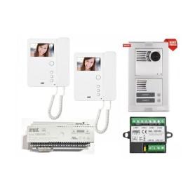 Kit Videocitofono Urmet Bifamiliare a colori 1783/322 1783/704 con 2 monitor miro