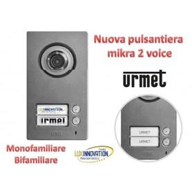 Pulsantiera urmet mikra 2 voice monofamiliare / bifamiliare videocitofono ( come 1783/1)