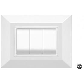 Placca 3m bianco Vimar Eikon Compatibile