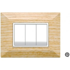 Placca 3m legno wengè Vimar Eikon Compatibile