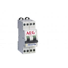 Interruttore magnetotermico 10A 1 polo + N 2 moduli AEG